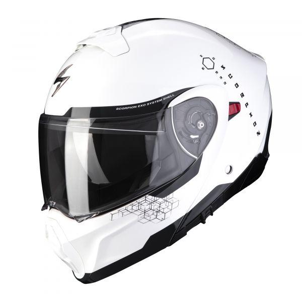 Scorpion EXO-930 SHOT pearl white-black