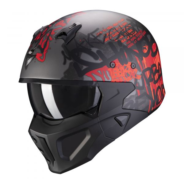Scorpion Covert-X Wall matt dark silver-red