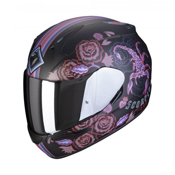 Scorpion Helm EXO-390 Chica 2 matt black-pink