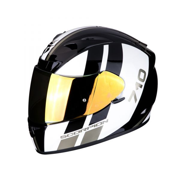 Scorpion Helm EXO-710 AIR GT black-white-gold