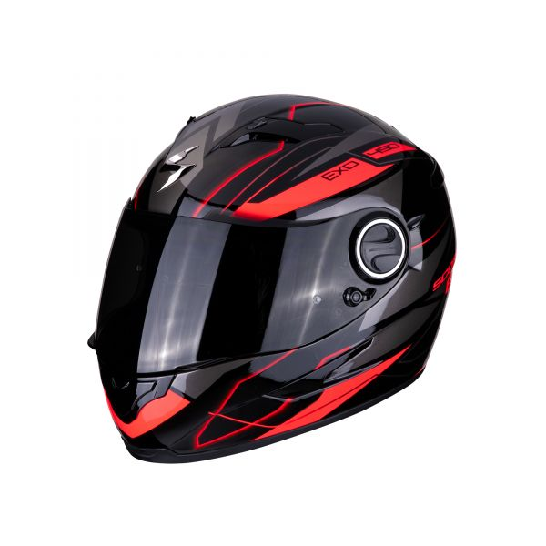 Scorpion Helm EXO-490 NOVA black-red