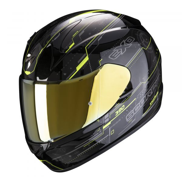 Scorpion Helm EXO-390 Beat black-neon yellow