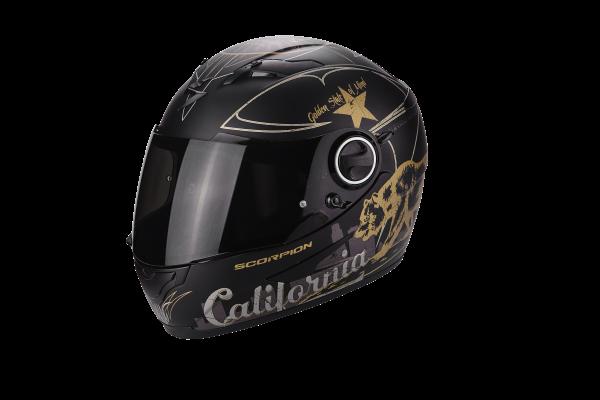 Scorpion Helm EXO-490 Golden State mattschwarz-gold