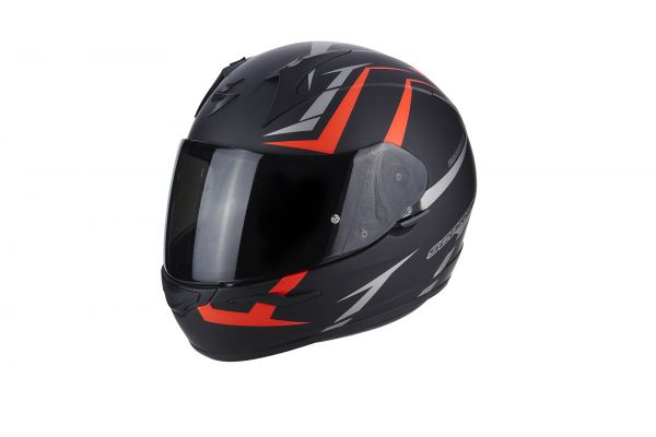 Scorpion Helm EXO-390 Hawk Matt Black-Neon Red