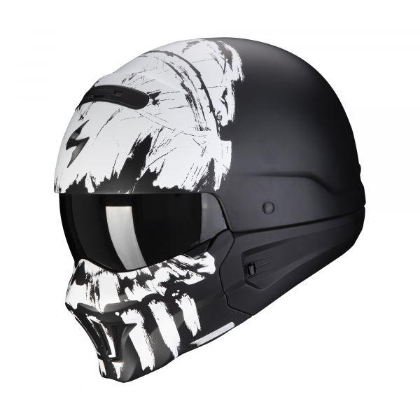 Scorpion EXO-Combat Evo MARAUDER matt black-white