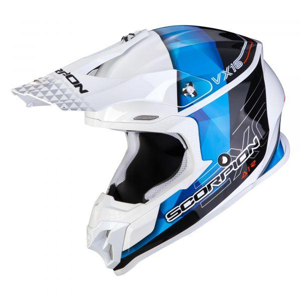 Scorpion VX-16 AIR GEM white-blue