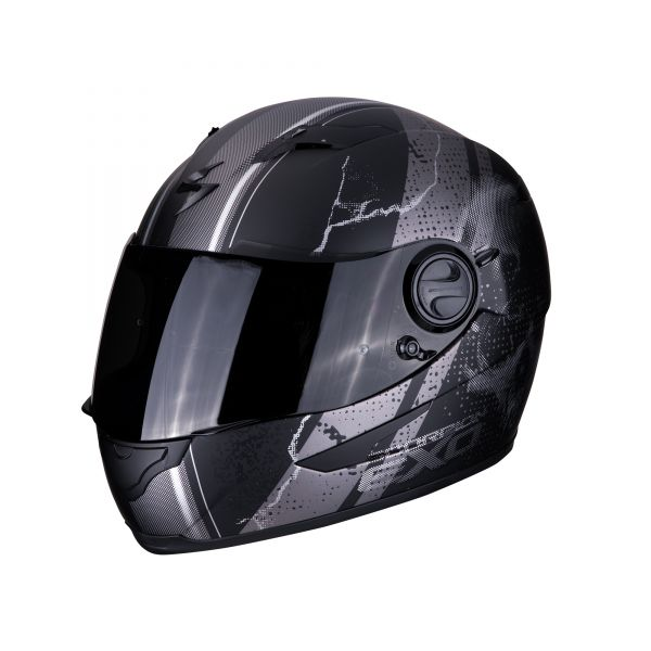 Scorpion Helm EXO-490 DAR  matt black-silver