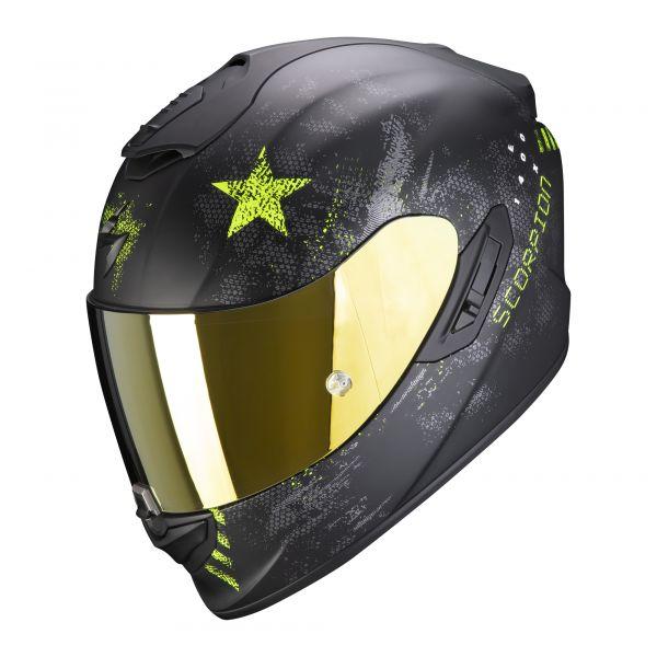 Scorpion EXO-1400 AIR ASIO matt black-neon yellow
