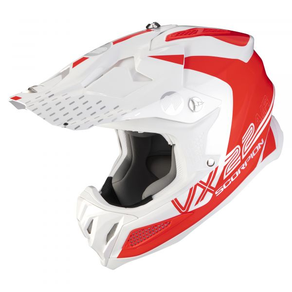 Scorpion VX-22 AIR ARES white neon red