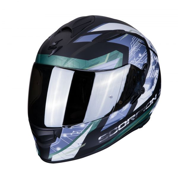 Scorpion Helm EXO-510 AIR CLARUS matt black-silver