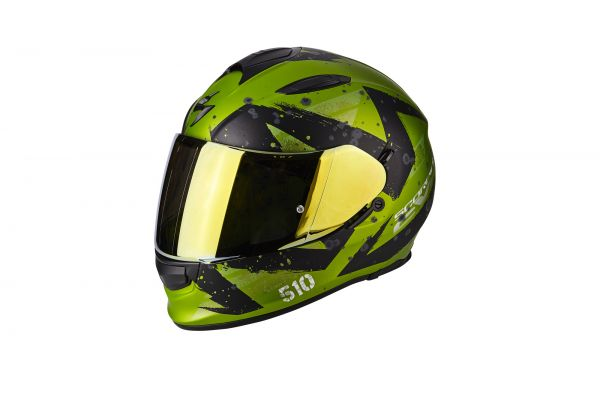 Scorpion Helm EXO-510 AIR Marcus Matt green-Black
