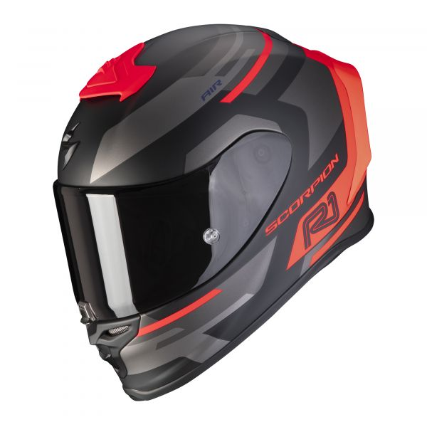Scorpion EXO-R1 AIR ORBIS matt black-red