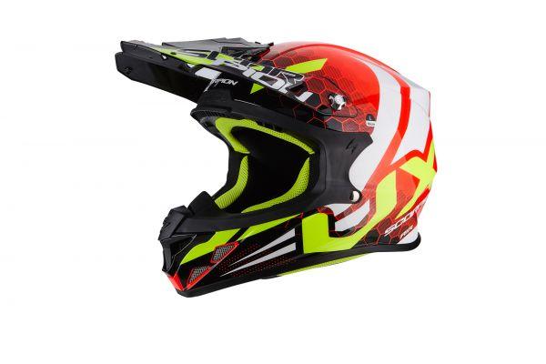 Scorpion Crosshelm VX-21 AIR Xagon Neon Red-Black