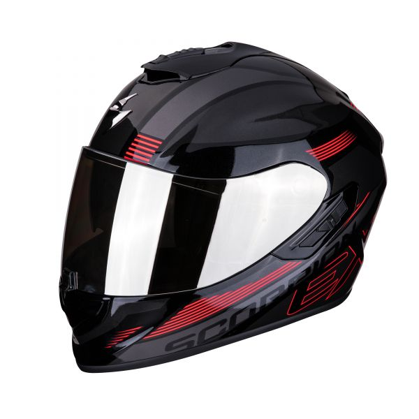 Scorpion EXO-1400 AIR Free metal black-red
