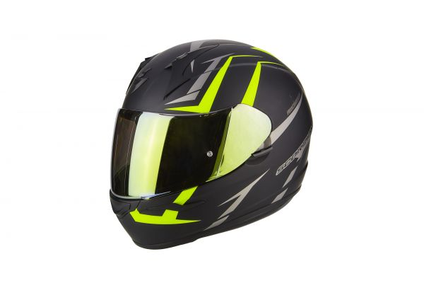 Scorpion Helm EXO-390 Hawk Matt Black-Neon Yellow