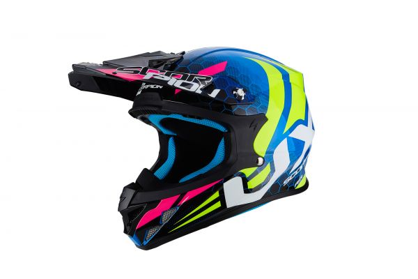 Scorpion Crosshelm VX-21 AIR Xagon Blue-Neon-Yellow
