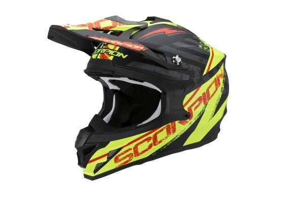 Scorpion Crosshelm VX-15 EVO AIR Gamma Matte Schwarz-Neon Gelb