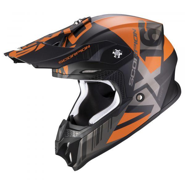Scorpion VX-16 AIR Mach matt black-orange