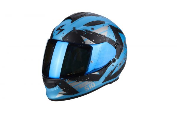 Scorpion Helm EXO-510 AIR Marcus Matt Blue-Black