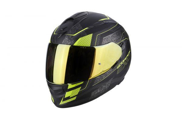 Scorpion Helm EXO-510 AIR Galva Matt Black-Neon Yellow