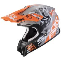 Scorpion VX-16 AIR Oratio matt grey-orange
