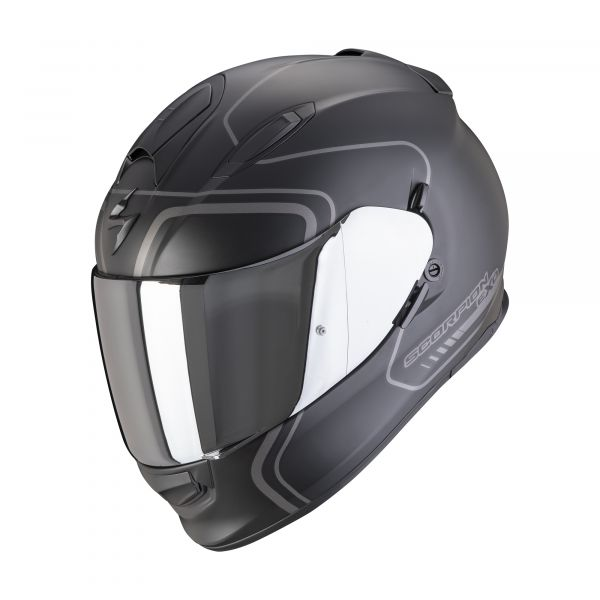 Scorpion EXO-491 WEST matt black-silver