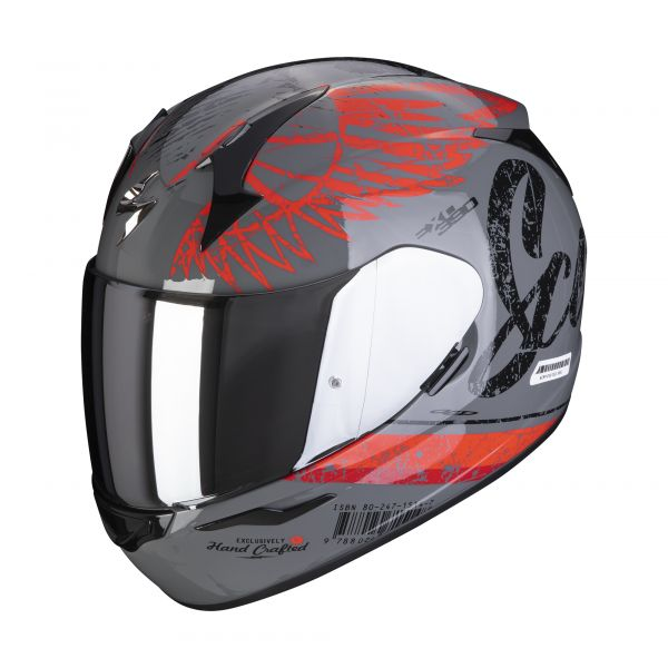 Scorpion Helm EXO-390 Ghost cement gray-red