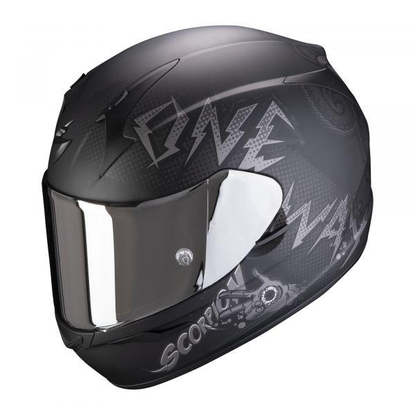 Scorpion Helm EXO-390 Oneway matt black-silve