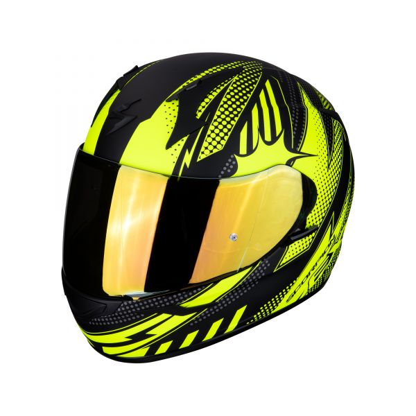 Scorpion Helm EXO-390 POP matt black-neon yellow