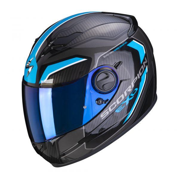 Scorpion Helm EXO-490 SUPERNOVA black-blue