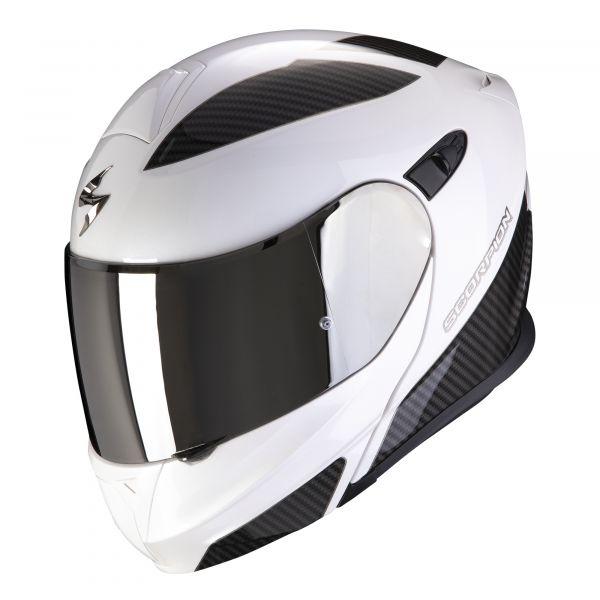 Scorpion EXO-920 Flux pearl white-silver