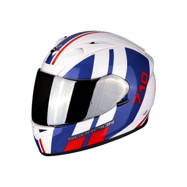 Scorpion Helm EXO-710 AIR GT white-blue-red