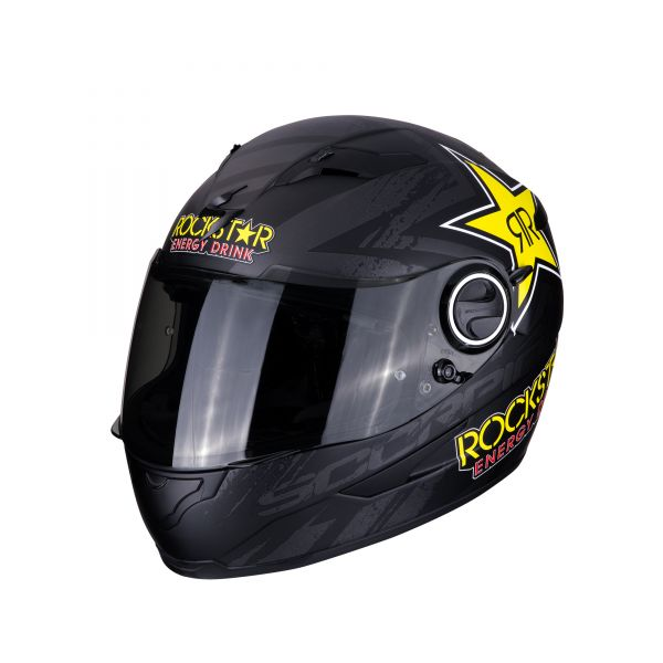 Scorpion Helm EXO-490 Rockstar matt black-yellow-red