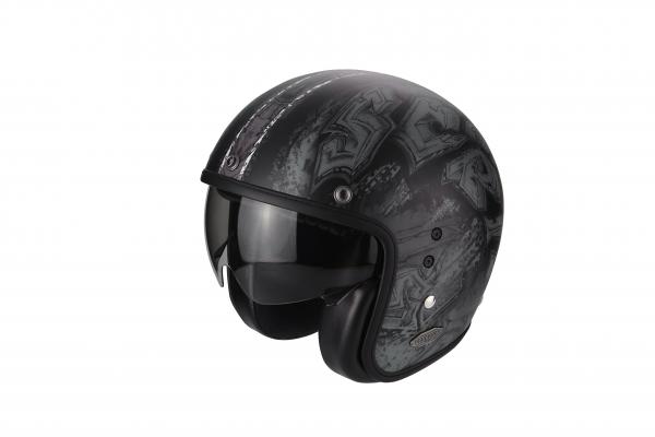 Scorpion Helm BELFAST Urbex schwarz silber