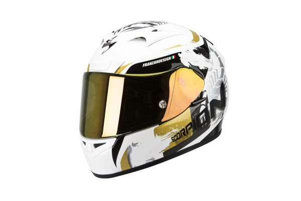 Scorpion Helm EXO-710 AIR Cerberus Perlmutt Weiss-Gold