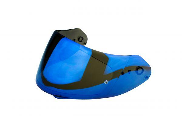 Scorpion Visier EXO-1, R1 Carbon, EXO-1400 Air ,1400 Air Carbon verspiegelt blau