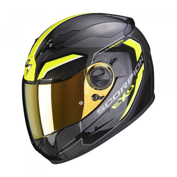 Scorpion Helm EXO-490 SUPERNOVA black-neon yellow