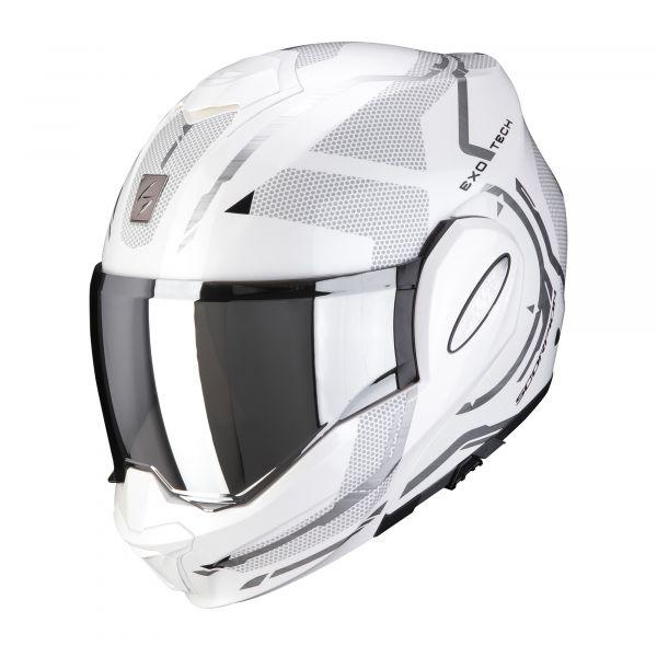 Scorpion EXO-TECH SQUARE pearl white-silver