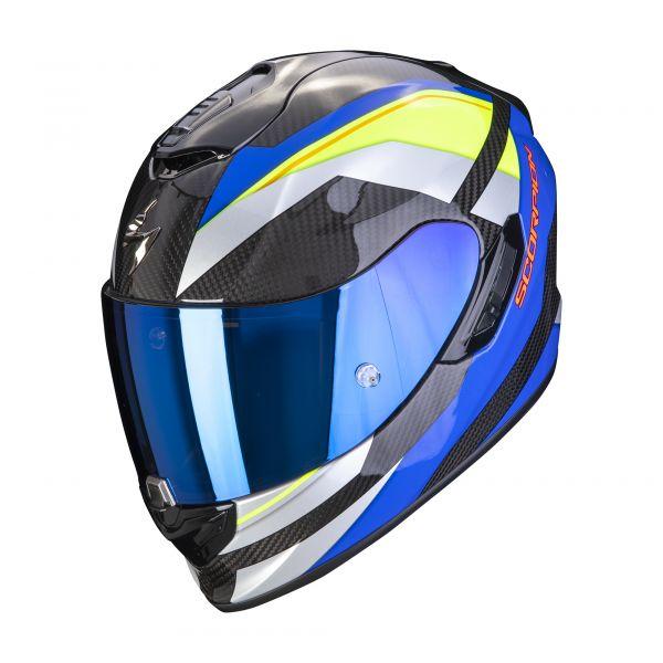 Scorpion EXO-1400 Carbon AIR Legione blue-neon yellow