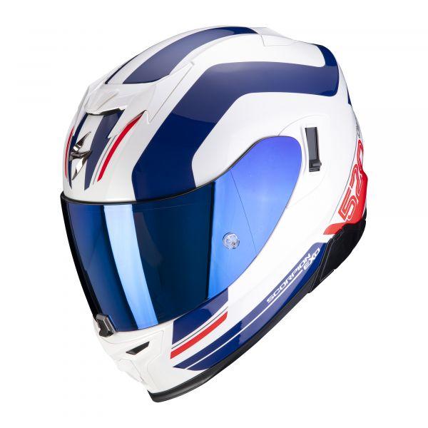Scorpion EXO-520 AIR LEMANS white-blue red
