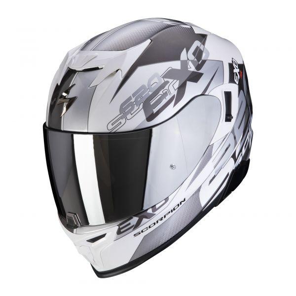 Scorpion EXO-520 AIR COVER white-silver