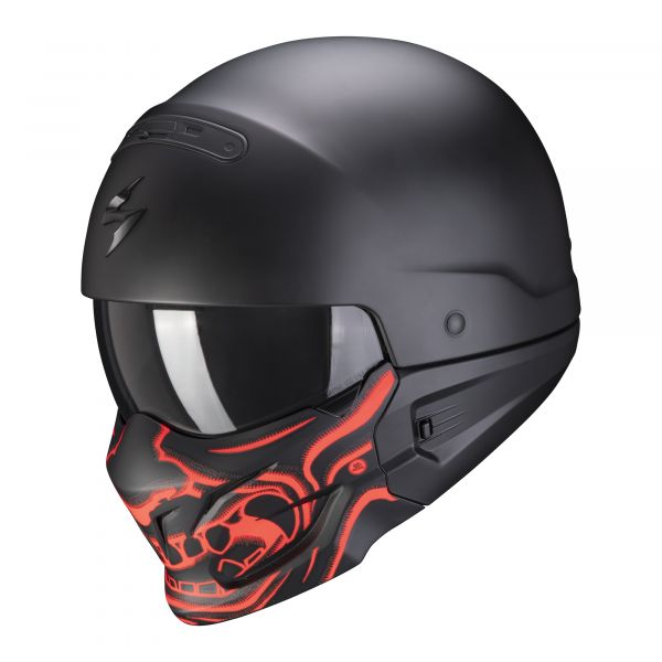 Scorpion EXO-Combat Evo SAMURAI matt black-red