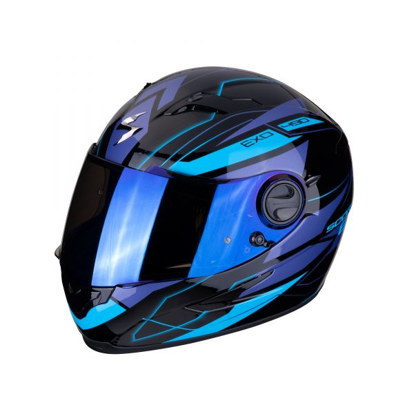 Scorpion Helm EXO-490 NOVA black-blue