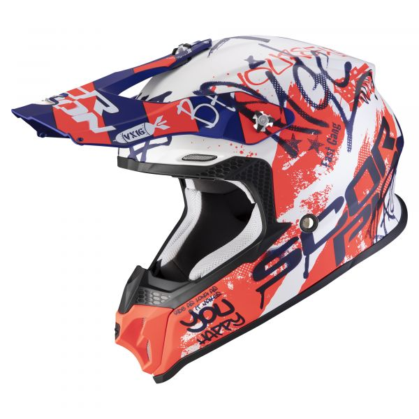 Scorpion VX-16 AIR Oratio matt white-blue-red