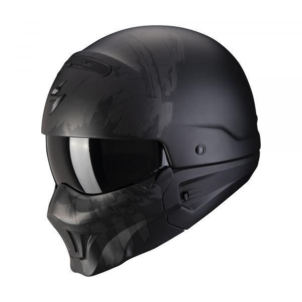 Scorpion EXO-Combat Evo MARAUDER matt black-dark silver