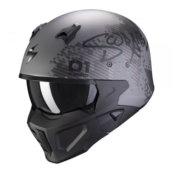 Scorpion Covert-X XBORG matt silver-black