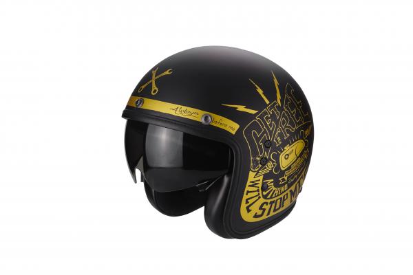 Scorpion Helm BELFAST Fender schwarz-gold
