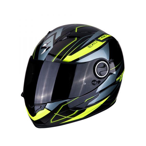 Scorpion Helm EXO-490 NOVA black-neon yellow