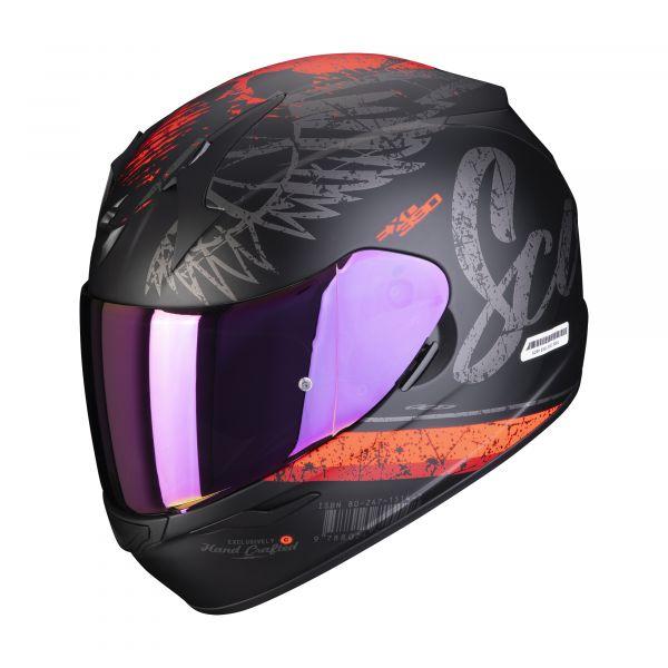 Scorpion Helm EXO-390 Ghost matt black-silver