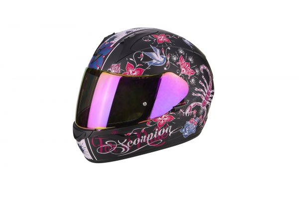 Scorpion Helm EXO-390 Chica Matt Black-Pink